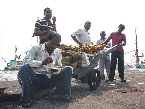 mercato del pesce Mumbai India