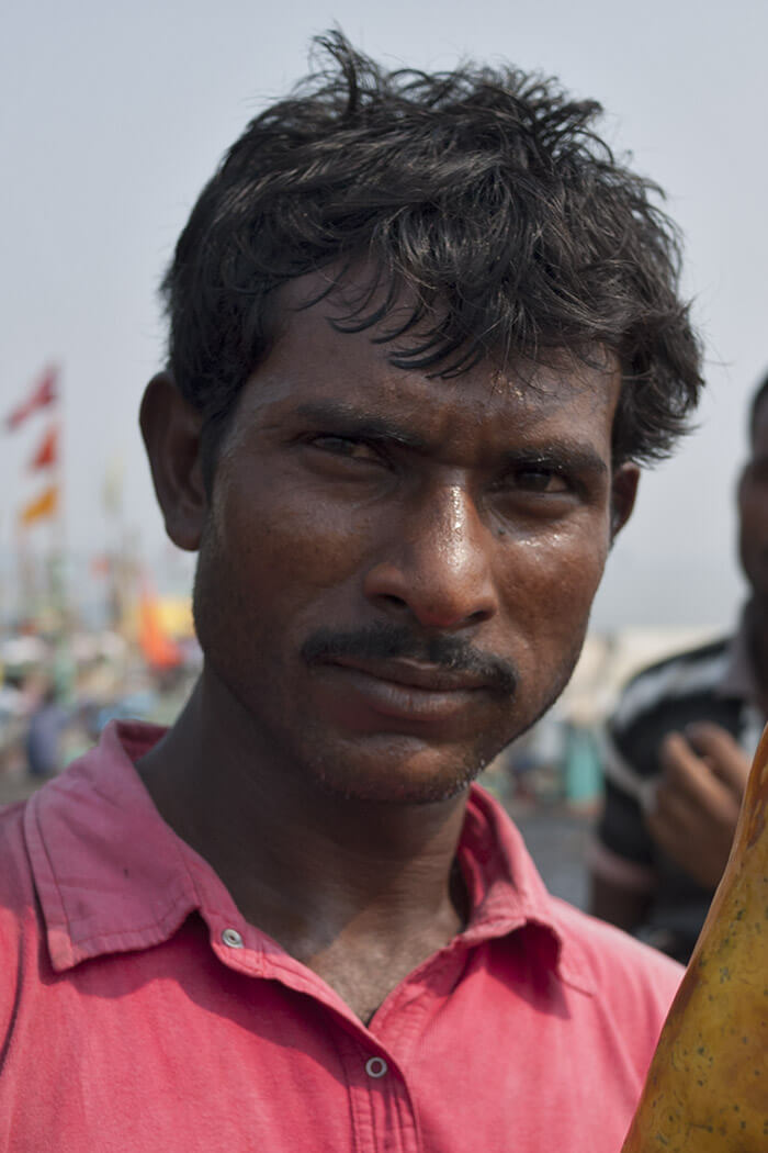 fishman portrai Fish market Mumbai Sasson Docks