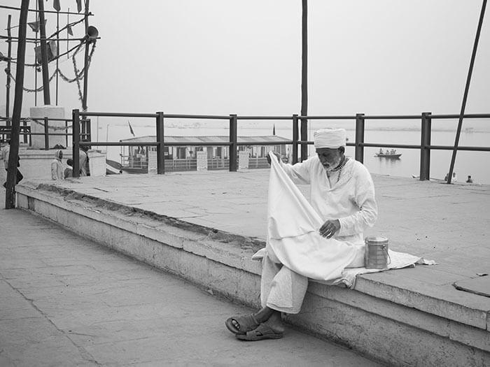 Sadhu santone indiano uomo buono