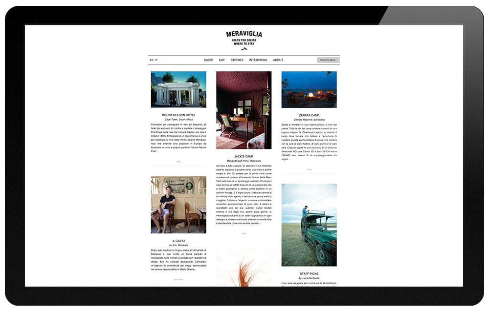 Meraviglia Paper travel magazine