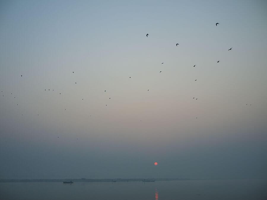 il Gange all'alba