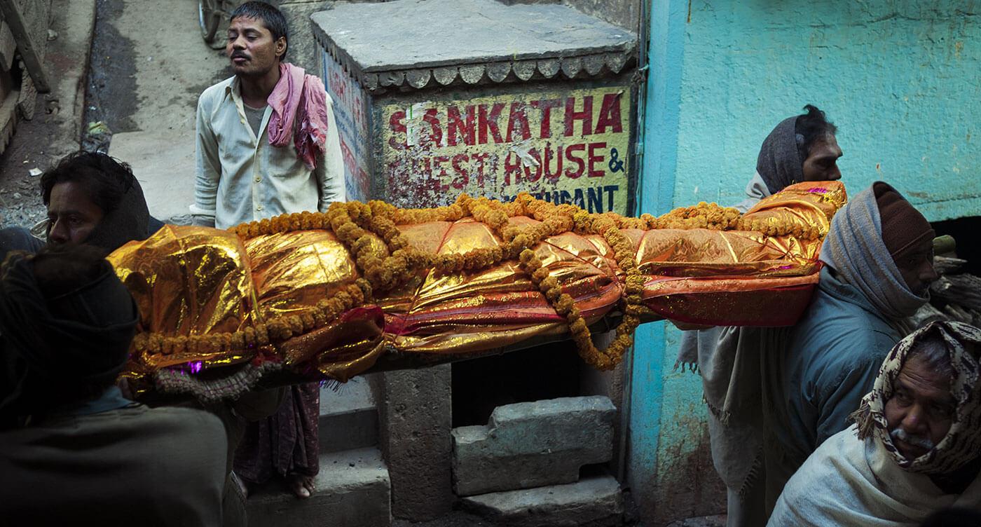 salma di un morto in india