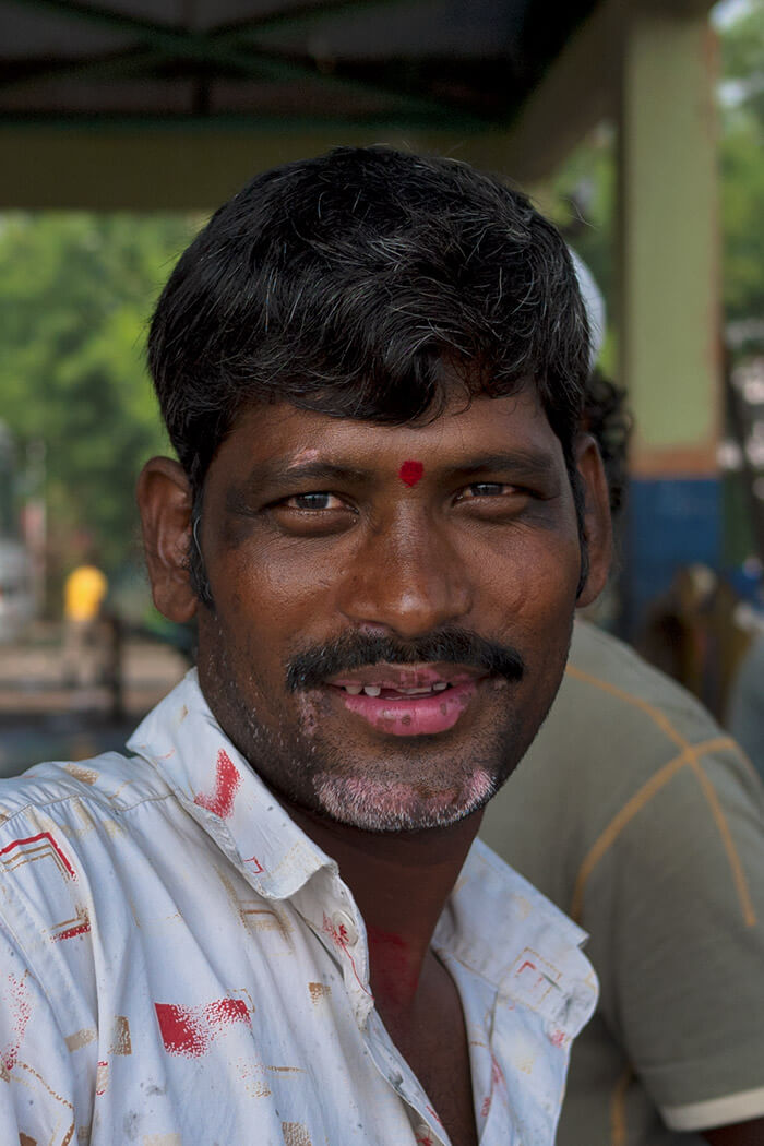 portrait Fish market Mumbai Sasson Docks