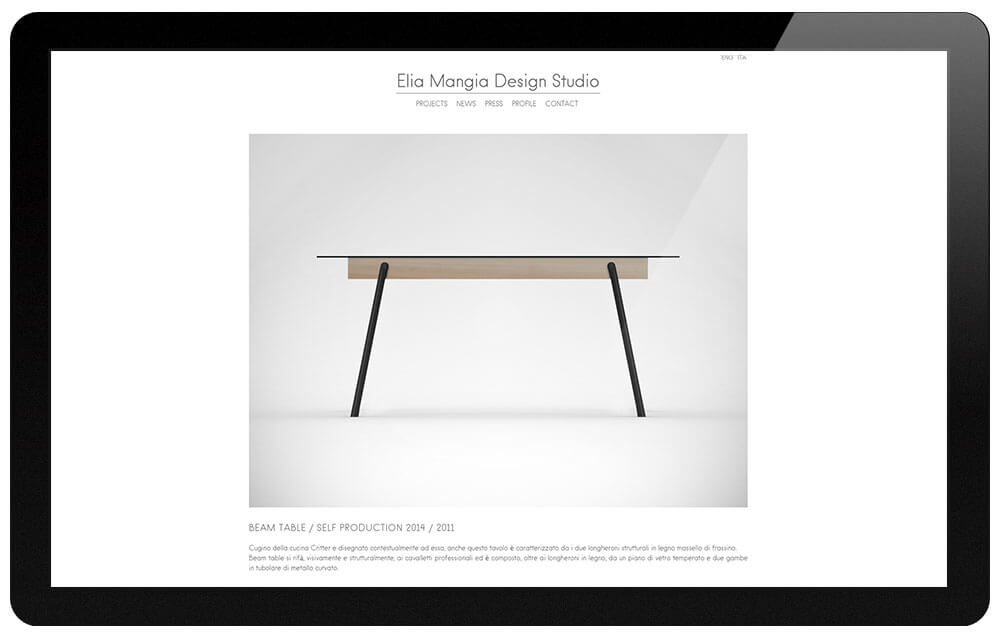 Elia Mangia beam table