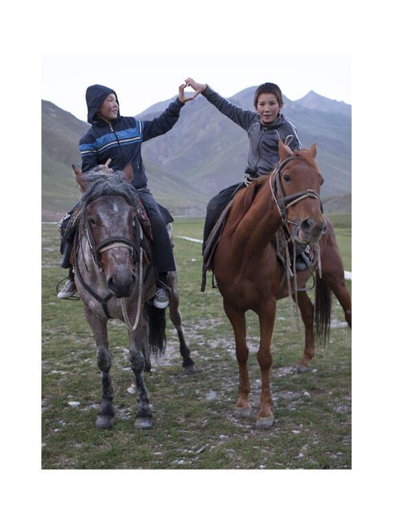 portrai cavalieri in Kirghistan