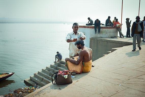 Reportage Varanasi - i barbiere di Benares