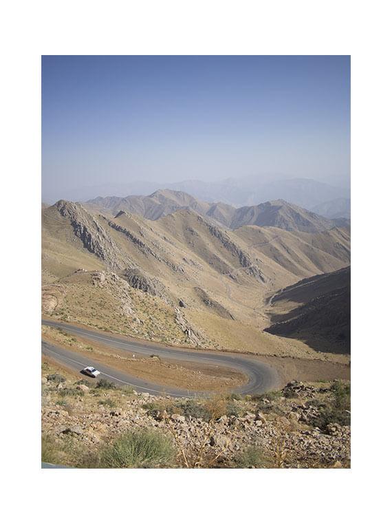 strada tutte curve nel Kurdistan