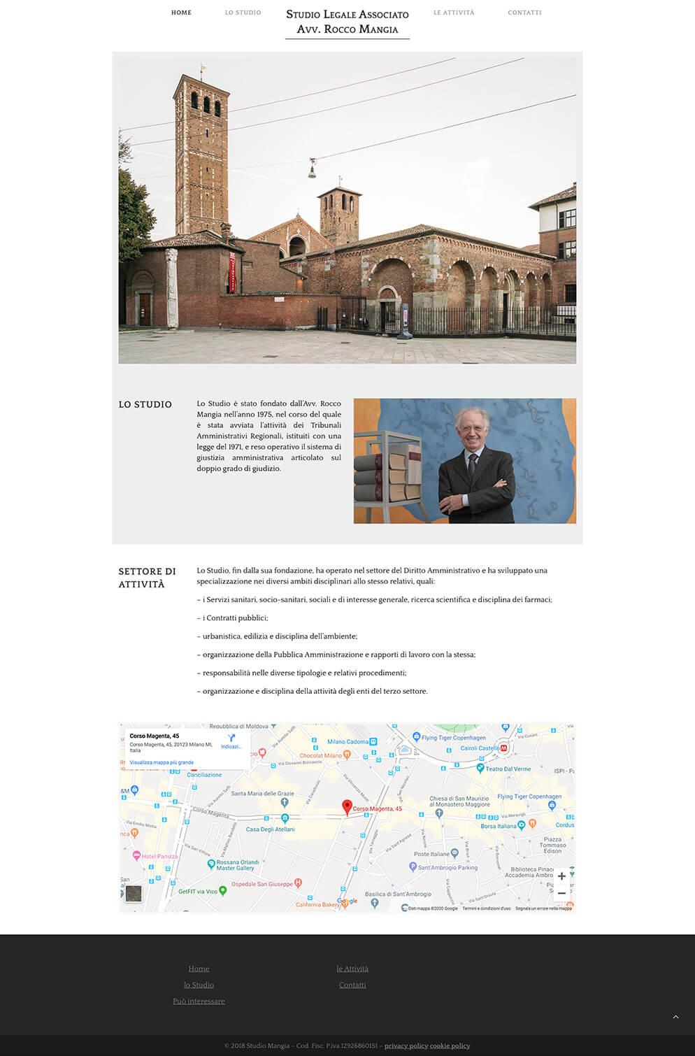 website Studio Mangia Milano