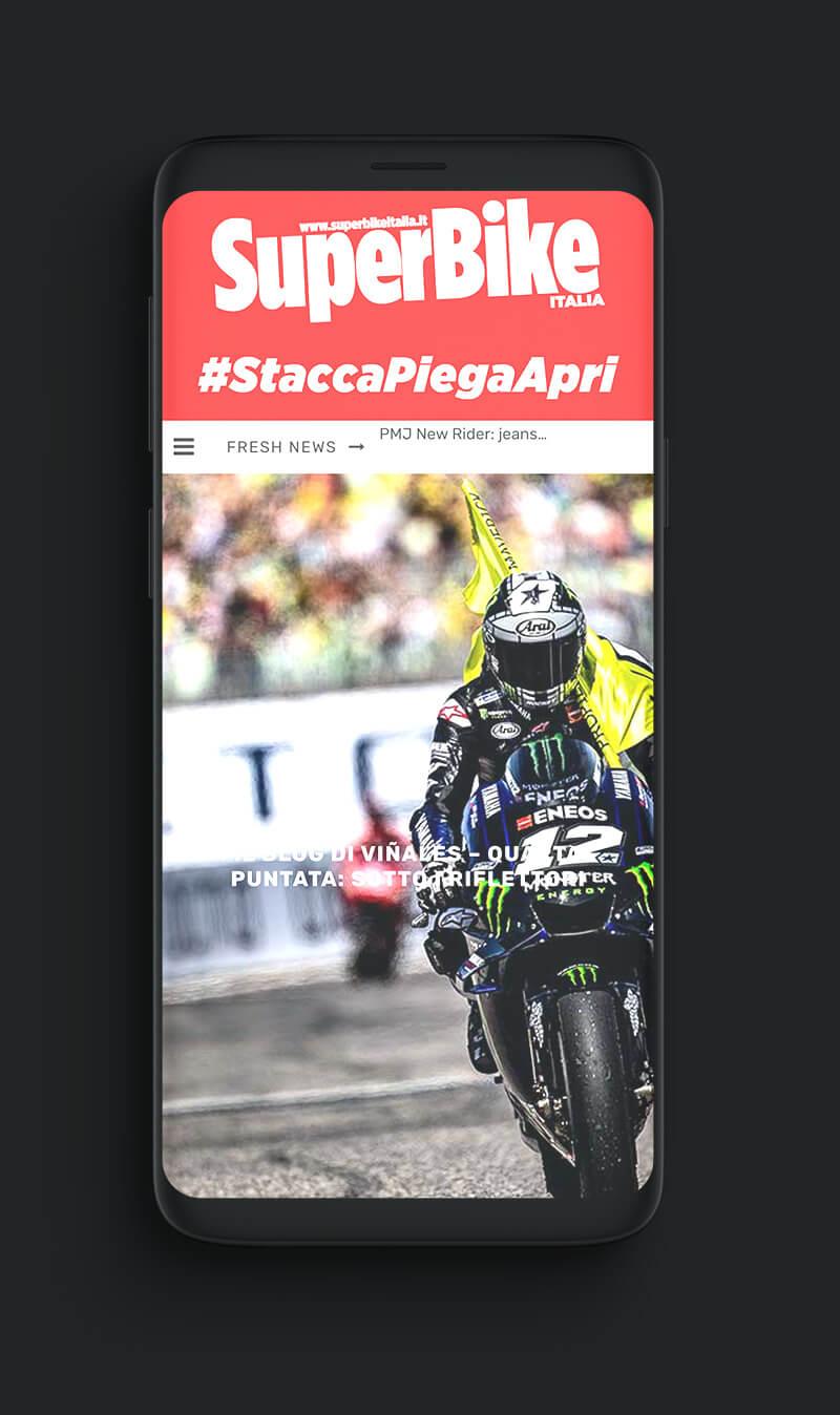 mobile-version website rivista Super Bike Italia