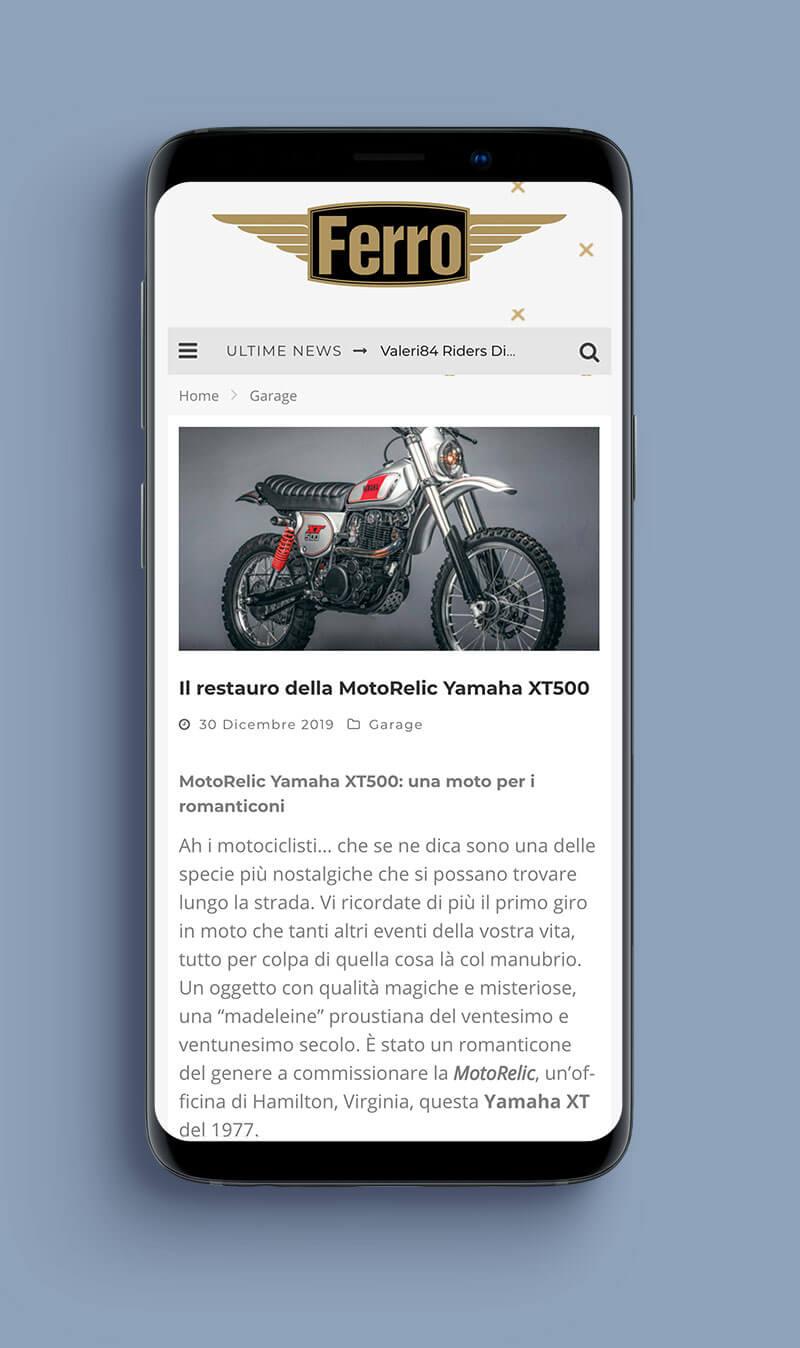 rivista Ferro magazine moto caffe race