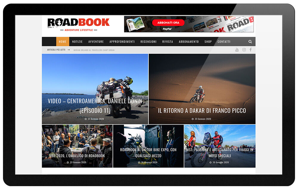 rivista RoadBook home page