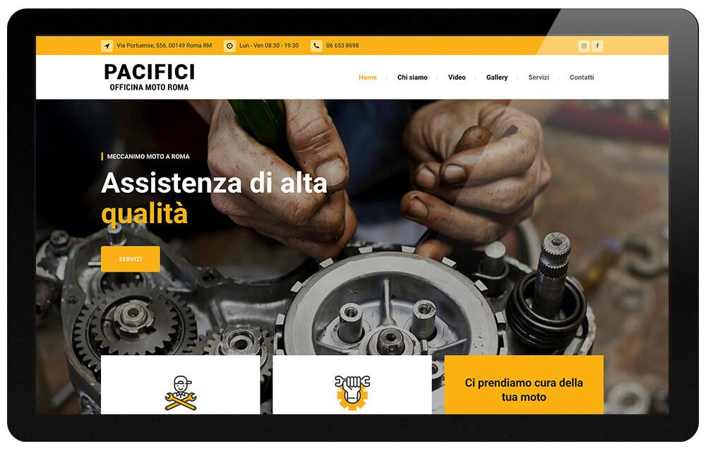 storica officina moto a Roma - Pacifici Giuseppe