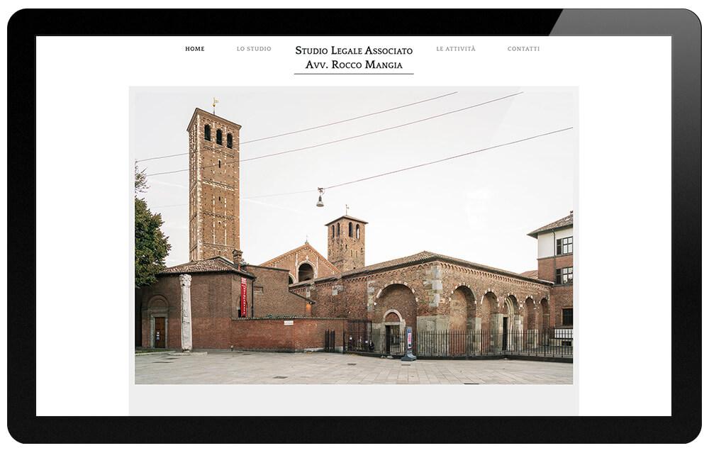 studio legale associato Milano-Rocco Mangia home page