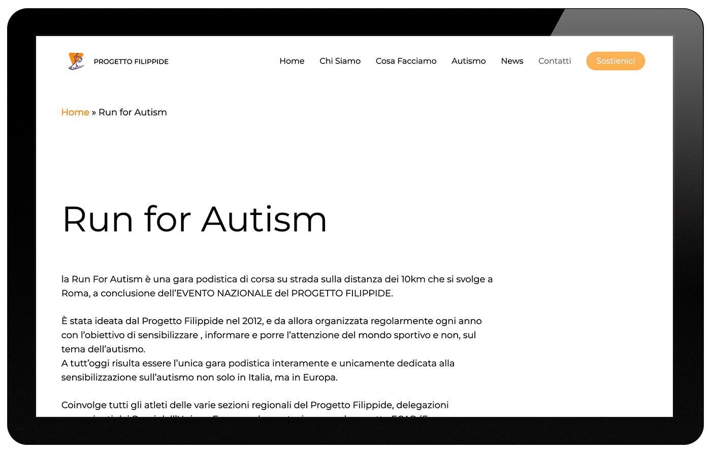 Progetto Filippide run for autism